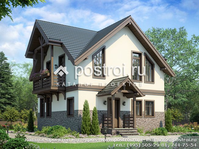 Проект дома для небольшой семьи № U-085-1P