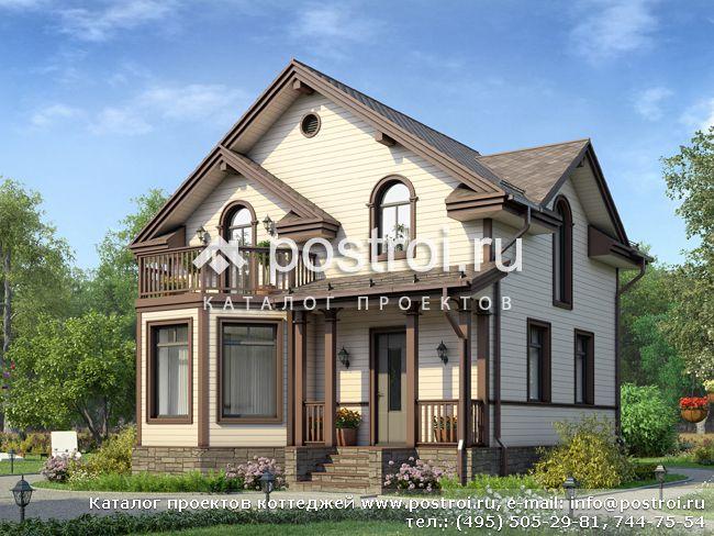 Компактный дом из бруса № U-089-1D