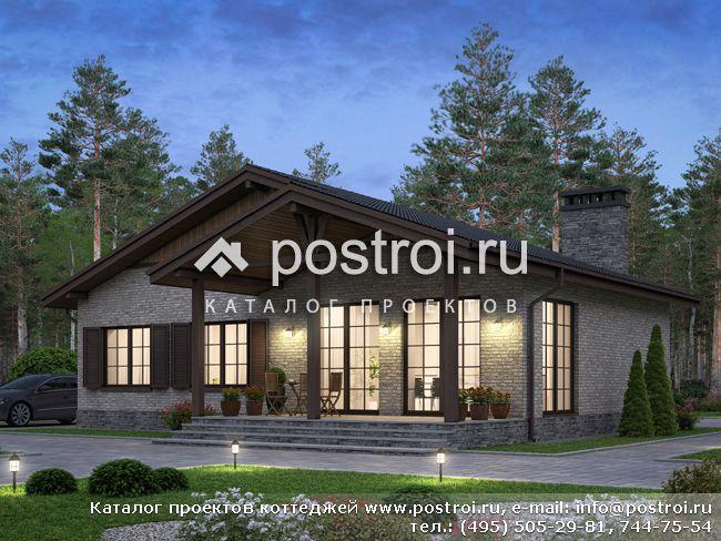 Лучший загородный одноэтажный дом № U-117-1K