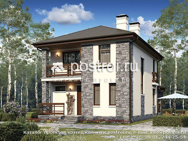 Проект дома с тремя спальнями № U-117-1P