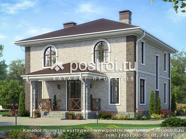 фото домов 10 на 10 двухэтажный
