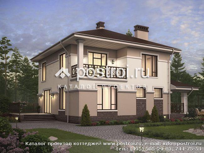 Загородный дом, проект № U-193-1P