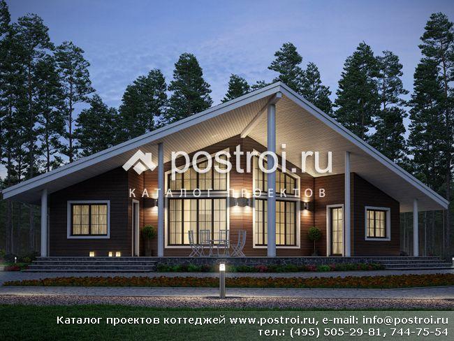 Необычный проект каркасного дома № U-193-1S