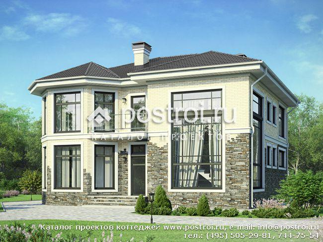 Дом из камня 12,2 на 17,1 м заказать под