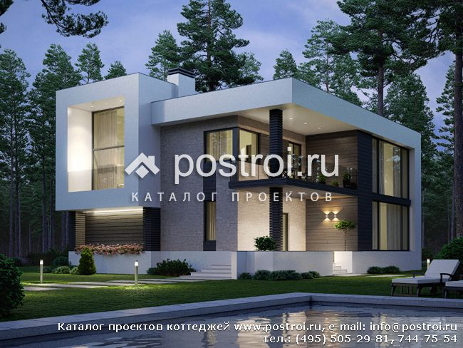 дом в стиле модерн картинки