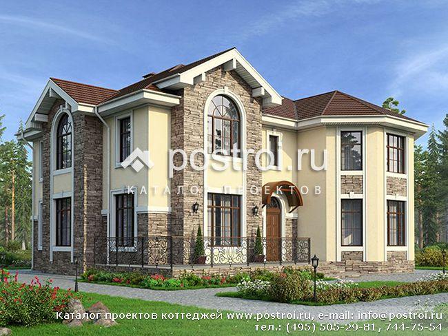Проект современного дома с террасой № U-251-1K