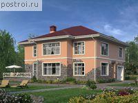 Проект кирпичного дома гаражом № U-264-1K
