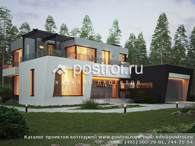 Проекты деревянных домов: коттедж 78х85м