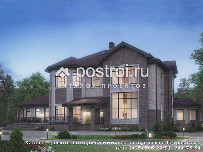 Проект загородного дома с цоколем и мансардой № U-717-1K