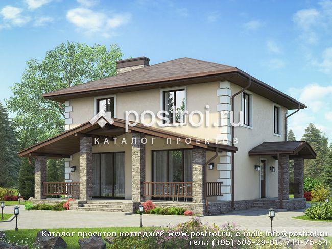 Проект дома с крытой террасой № V-133-1P