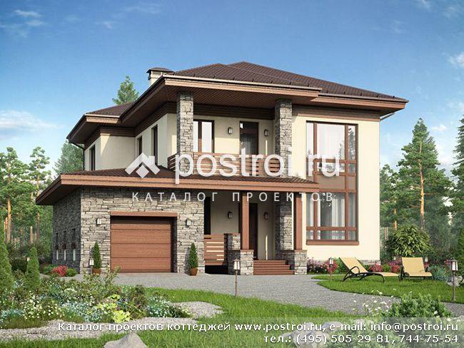 Дом с панорамными окнами № v 202 1p