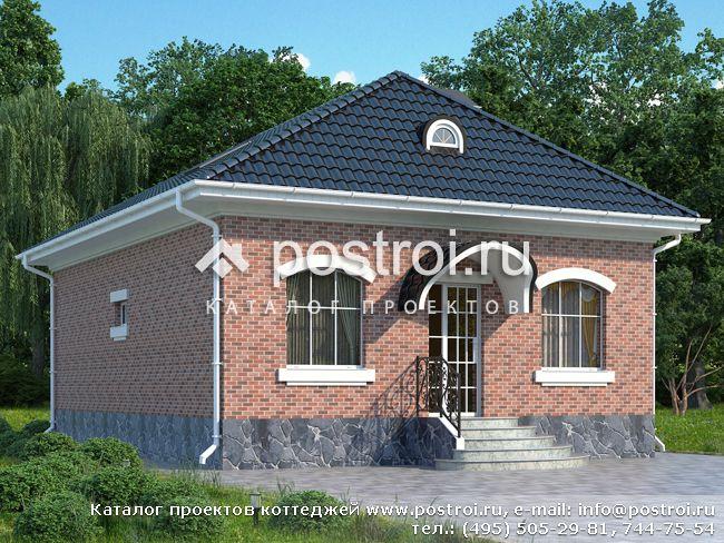 Загородный дом с двумя спальнями № W-075-1K