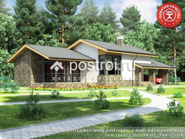 Проект одноэтажного коттеджа № W-172-1P