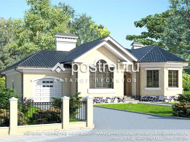 Одноэтажный кирпичный дом № W-181-1K