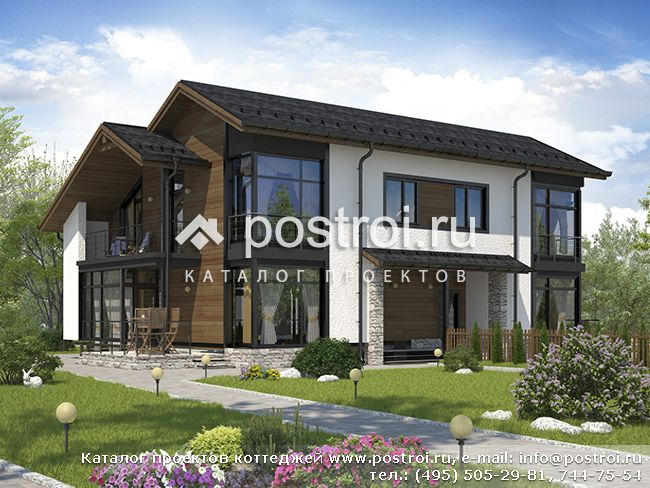 проект двухквартирного дома разных площадей