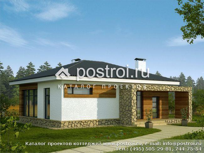 Одноэтажный дом 8 на 10 № X-080-1P