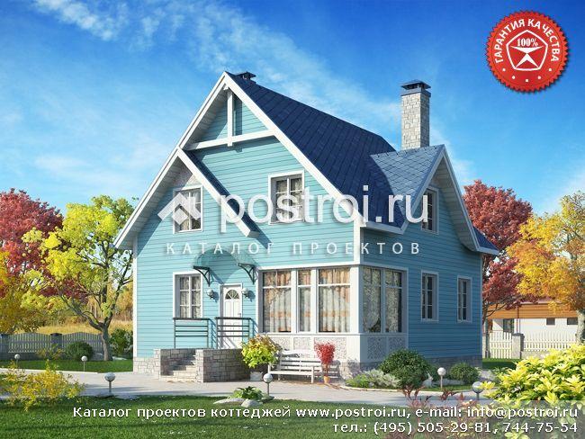 Типовой проект дачного дома № Y-134-1S