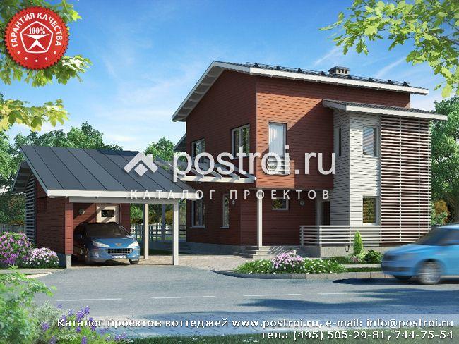 Дом с хозяйственным блоком № Y-188-1S