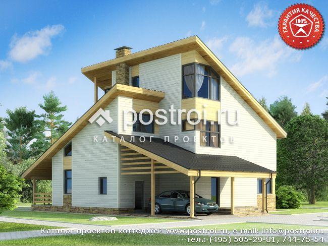 Дачный дом с мансардой № Y-258-1S
